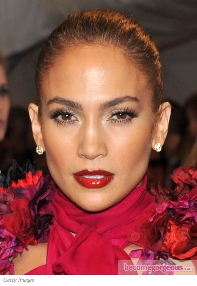 Jennifer Lopez Red Lips Makeup
