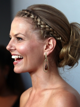 Jennifer Morrison Updo with Front Braid
