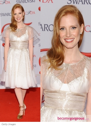 Jessica Chastain in Prabal Gurung Dress