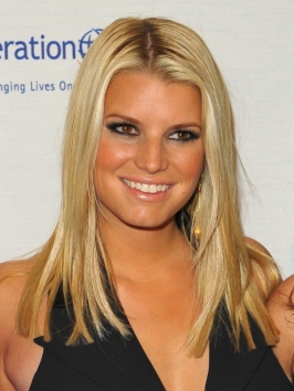 Jessica Simpson Long Layered Hairstyle
