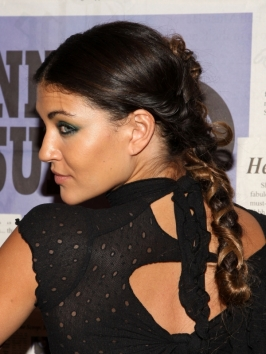 Jessica Szohr Twisted Braid Hairstyle Back View