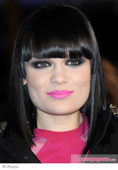 Jessie J Pink Lip Makeup