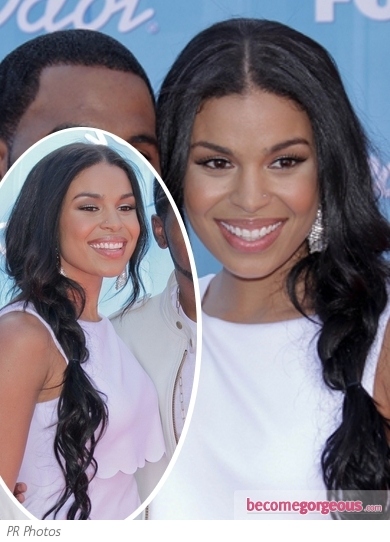 Jordin Sparks Loose Braid Side Pony