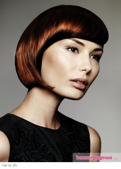 Medium Glam Red Bob Haircut