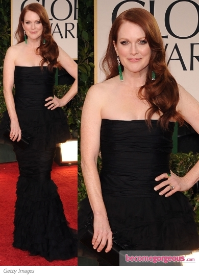 Julianne Moore in Chanel at 2012 Golden Globes