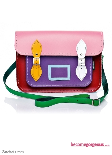 Kaleidoscope Leather Satchel