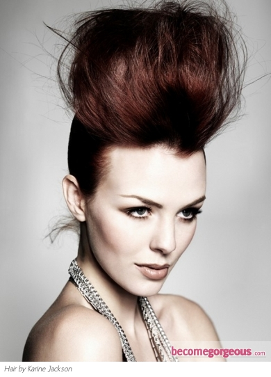 Voguish Messy Updo Hairstyle