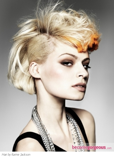 Punk Medium Half Updo Hairstyle