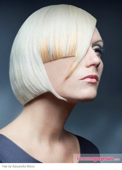 Medium Edgy Bob Hair Style