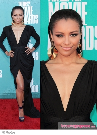 Kat Graham in Maria Lucia Hohan Black Gown