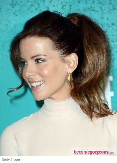 Kate Beckinsale's Big Pony Hairstyle