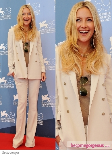 Kate Hudson in Gucci Pant Suit