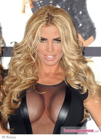 Katie Price Big Curly Hairstyle