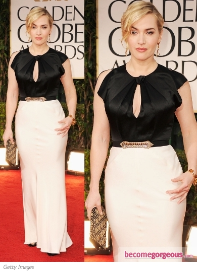 Kate Winslet in Jenny Packham at 2012 Golden Globes