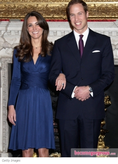Kate Middleton Blue Issa Engagement Dress