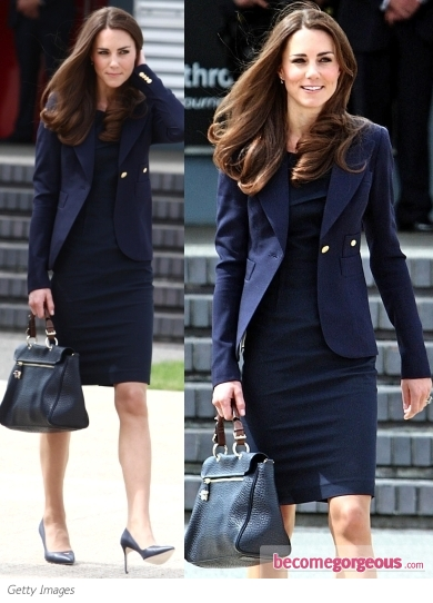Kate Middleton in Roland Mouret Navy Dress