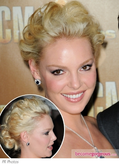 Katherine Heigl Curly Updo