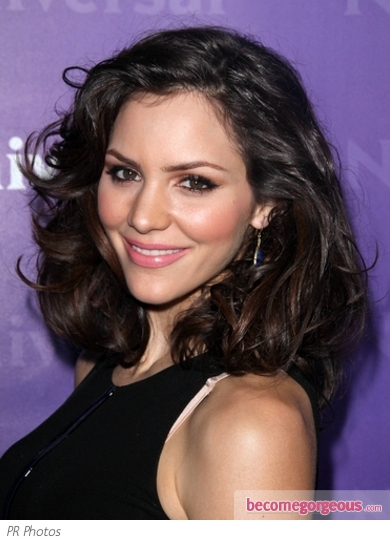 Katharine McPhee Bouncy Curly Bob Hairstyle