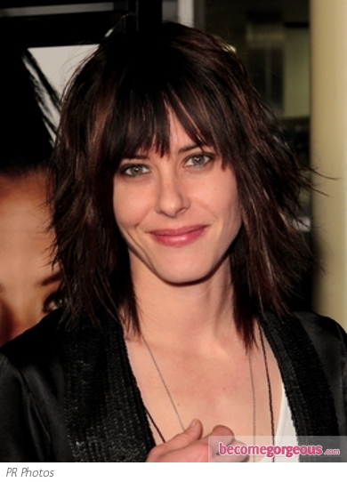 Katherine Moennig Layered Medium Haircut