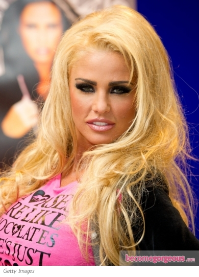 Katie Price New Blonde Hair Colour