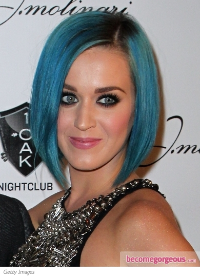 Katy Perry with Blue Hair Color
