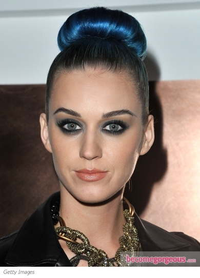 Katy Perry's Slicked High Bun