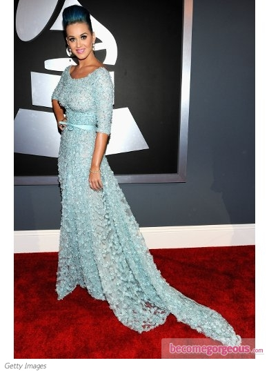 Katy Perry in Elie Saab Couture Beaded Gown