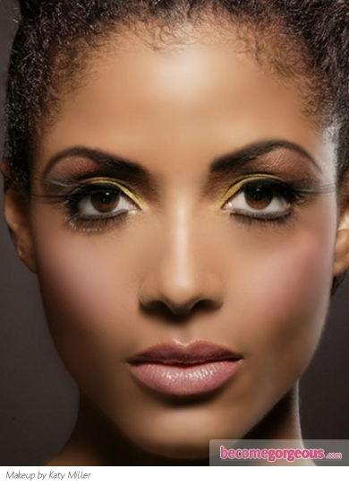 Yellow Party Eye Makeup Idea