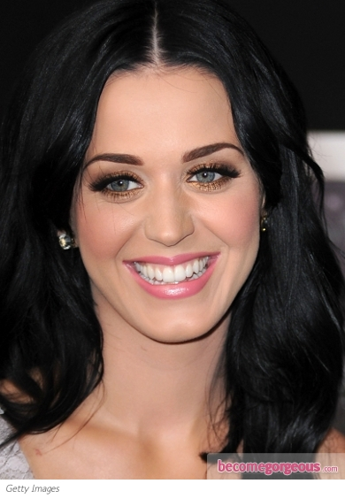 Katy Perry Copper Eye Makeup