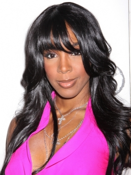 Kelly Rowland Long Wavy Hairstyle