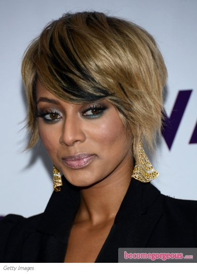 Keri Hilson's Shaggy Layered Bob Haircut
