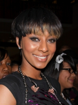 Keri Hilson Short Crop Hairstyle