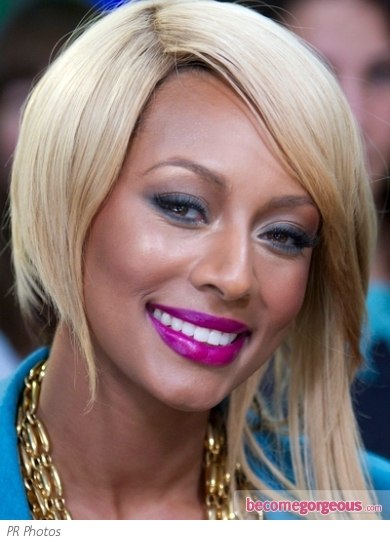 Keri Hilson Purple Lip Makeup Look