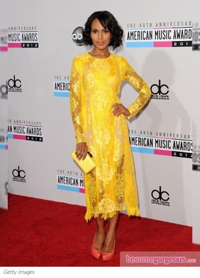 Kerry Washington in Stella McCartney at the 2012 AMAs