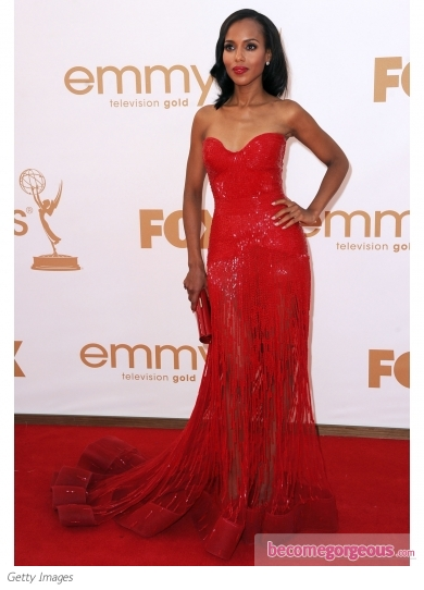 Kerry Washington in Zuhair Murad Red Gown