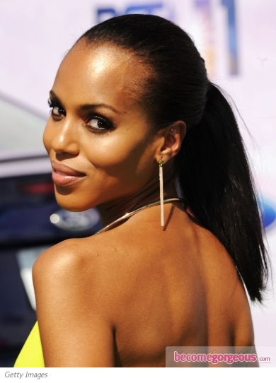 Kerry Washington Pony Hairstyle 2011 BET Awards