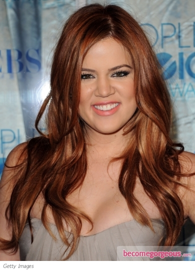 Khloe Kardashian New Red Hairstyle