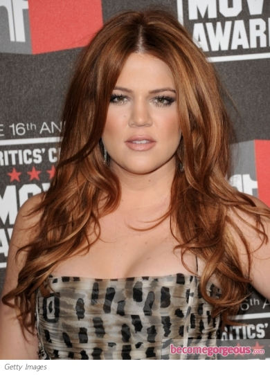 Khloe Kardashian Hairstyle at 2011 Critics' Choice Awards