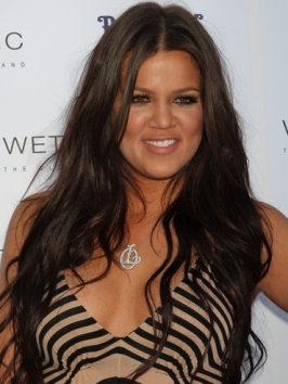 Khloe Kardashian's Long Waves Hairstyle