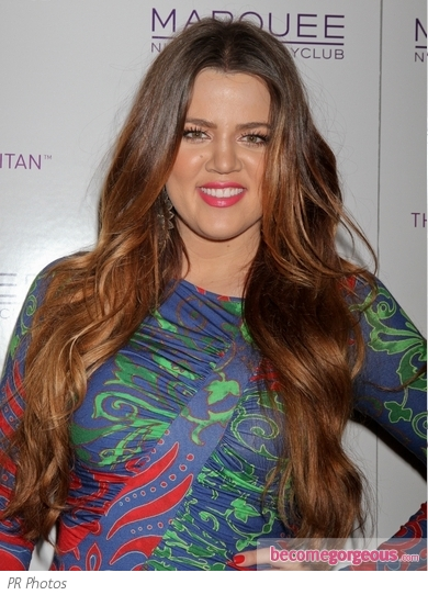 Khloe Kardashian Long Wavy Hair