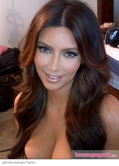 Kim Kardashian New Lighter Hair Color Pin It