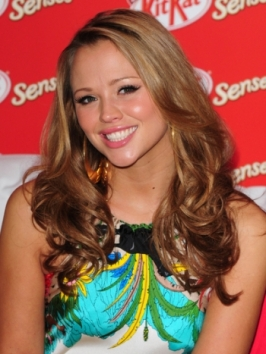 Kimberley Walsh Golden Brunette Hairstyle