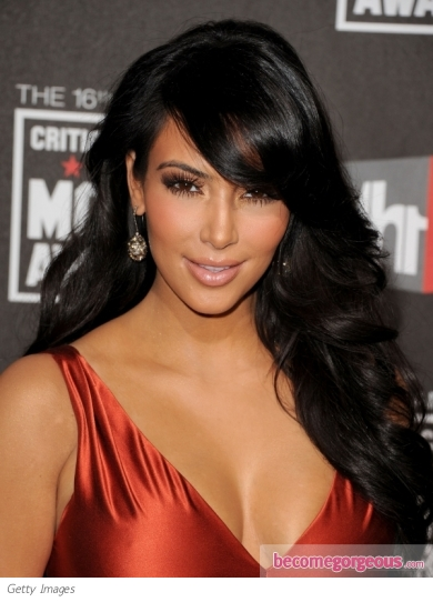 Kim Kardashian Hairstyle at 2011 Critics' Choice Awards