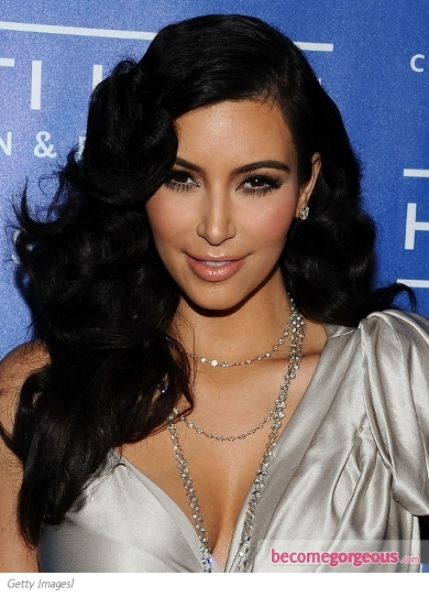 Kim Kardashian Glam Brushed-Out Curls
