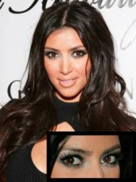 Kim Kardashian's Metallic Eye Makeup