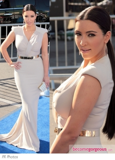 Kim Kardashian in Anotnio Berardi Gown