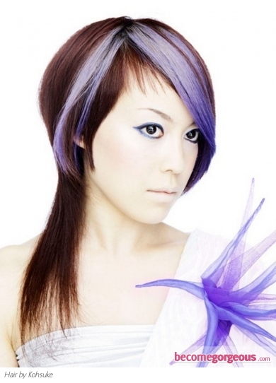 Purple Punk Hair Highlights