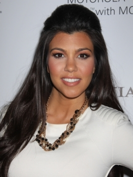 Kourtney Kardashian Poof Hairstyle