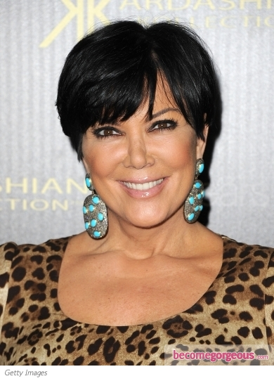 Kris Jenner Short Cap Cut Hairstyle