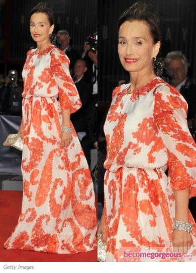 Kristin Scott Thomas in Giambattista Valli Floral Dress